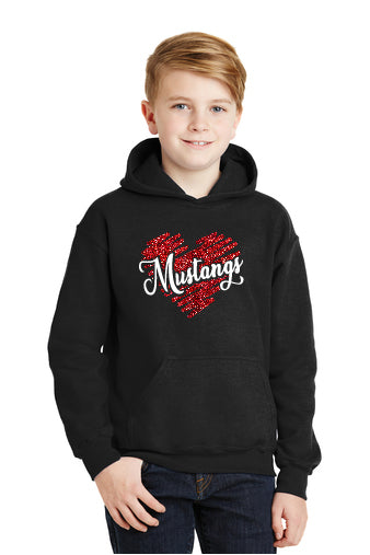Glitter Heart Gildan® - Heavy Blend™ Hooded Sweatshirt