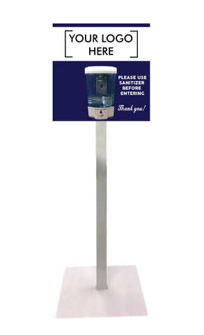 700 ml Sanitizer Dispenser On Floor Stand With Custom Graphics