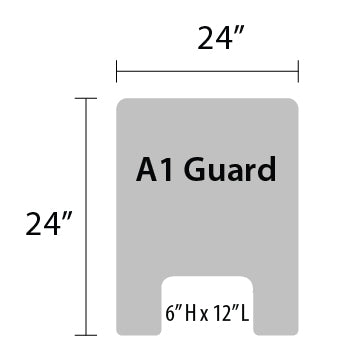 "A1 Sneeze Guard - 24"" by 24"""