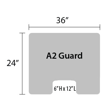 "A2 Sneeze Guard - 24"" by 36"""