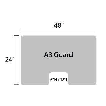 "A3 Sneeze Guard - 24"" by 48"""