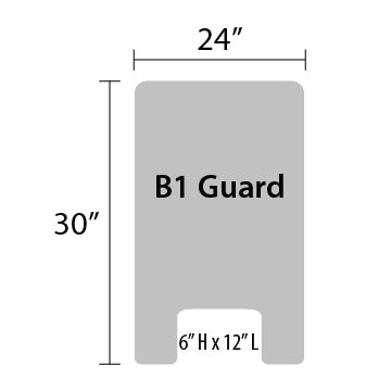 "B1 Sneeze Guard - 30"" by 24"""