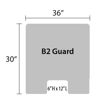 "B2 Sneeze Guard - 30"" by 36"""
