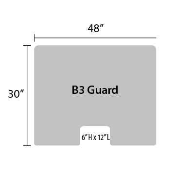 "B3 Sneeze Guard - 30"" by 48"""