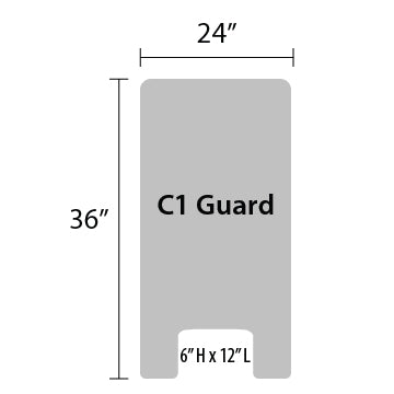 "C1 Sneeze Guard - 36"" by 24"""