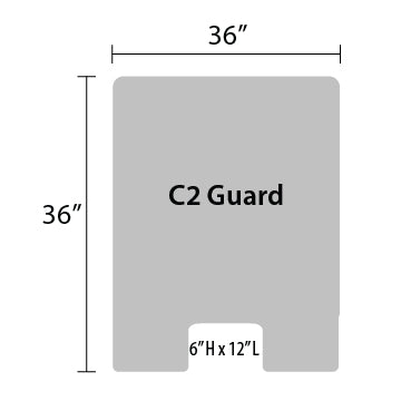 "C2 Sneeze Guard - 36"" by 36"""