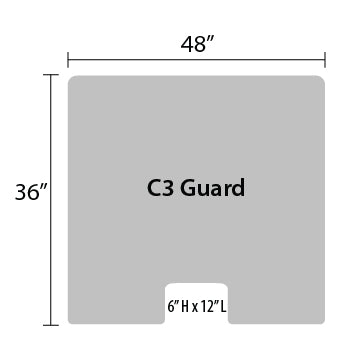 "C3 Sneeze Guard - 36"" by 48"""