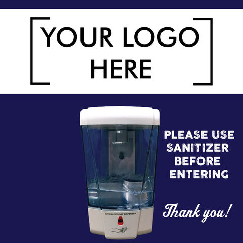 Wall Mounted Sanitizer Dispenser With Custom Graphics