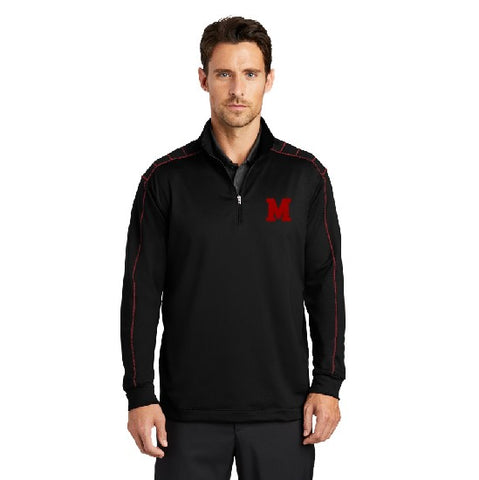 Embroidered M Nike Dri-Fit 1/2 Zip Cover-up