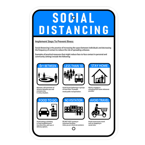 Social Distancing Information Sign