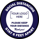 Custom Social Distancing Floor Decals (100 pieces)