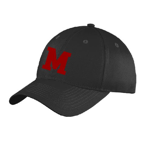 Embroidered M Twill Cap