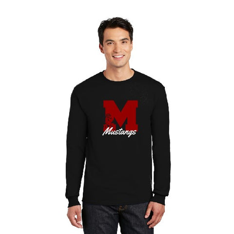 Long Sleeve Block M Black TShirt