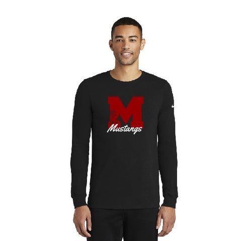 Nike Dri-fit Long Sleeve Tee Block M Black