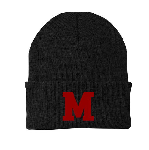 Embroidered M Knit Cap