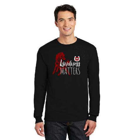 Kindness Matters Long Sleeve Black TShirt