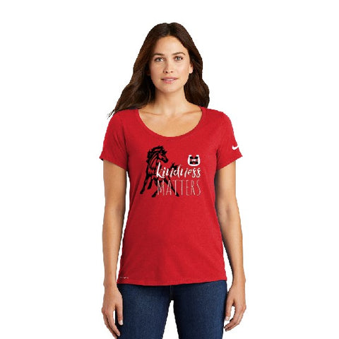 Kindness Matters Nike Ladies Dri-fit Tee Red