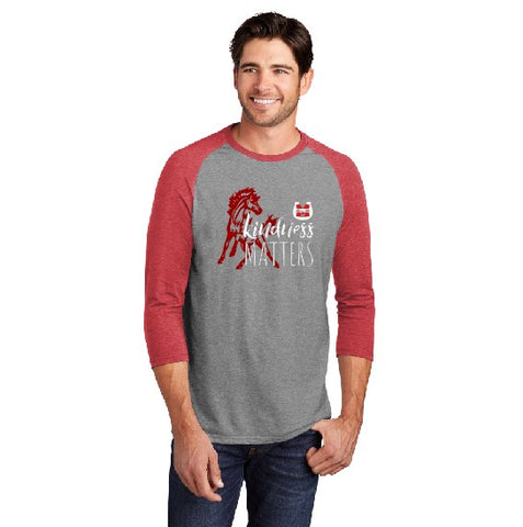 Kindness Matters District 3/4 Sleeve Raglan Red