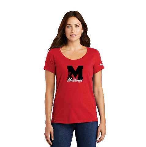 Nike Ladies Dri-fit Tee Block M Red