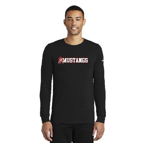 Mustangs Nike Dri-fit Long Sleeve Tee Black