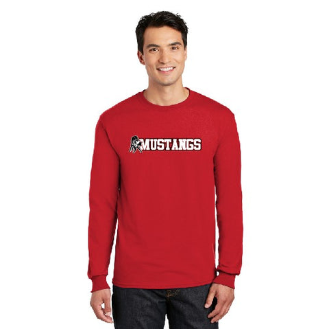 Mustangs Long Sleeve Red TShirt