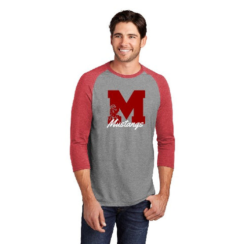 Block M District 3/4 Sleeve Raglan Red