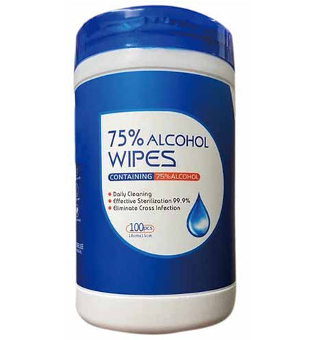 Alcohol Wipes - 100 Wipes