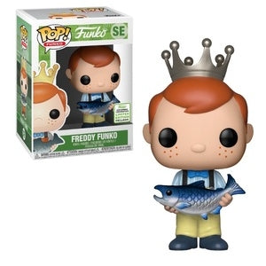Funko Pop! Emerald City Comic Con Exclusive: Freddy Funko (Holding Fish- Yellow Pants)
