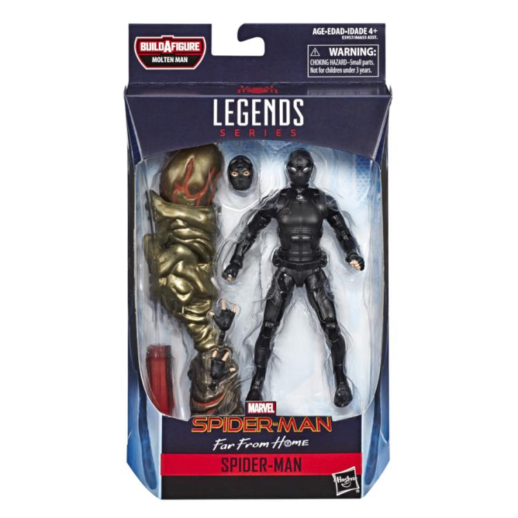 Spider-Man: Far From Home Marvel Legends Stealth Spider-Man (Molten Man BAF)