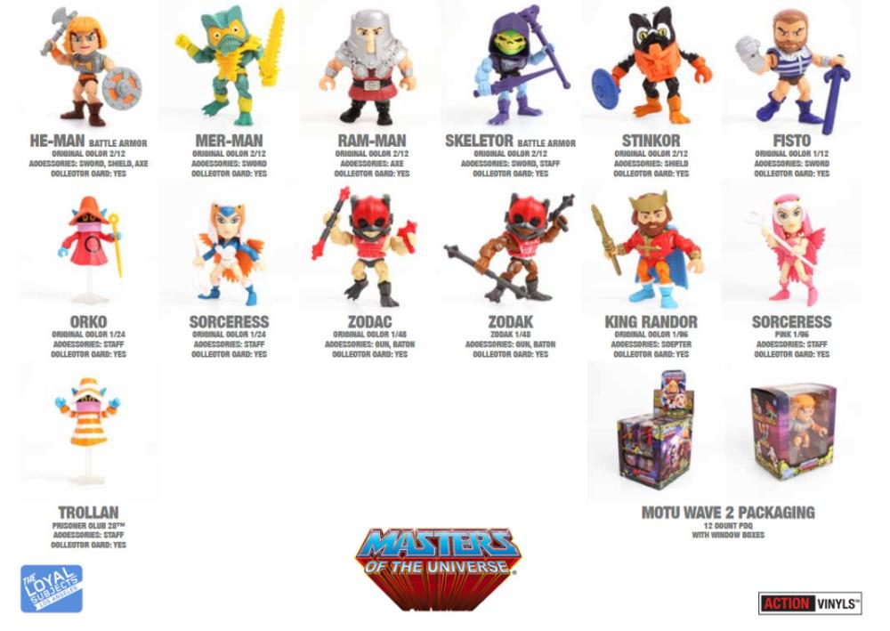 Masters of the Universe Action Vinyls Wave 2