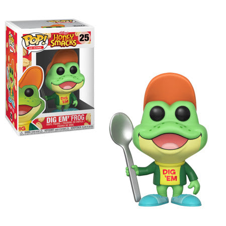 Ad Icons Honey Smacks Dig Em' Frog Pop! Vinyl Figure