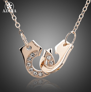 Hand In Hand Rose Gold women Necklace