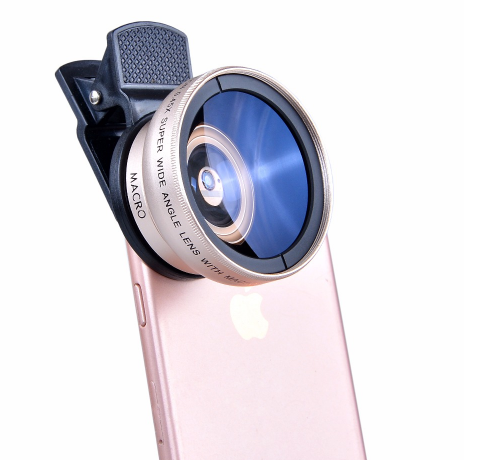 New HD 37MM 0.45x Super Wide Angle Lens with 12.5x Super Macro Lens for iPhone 6 Plus 5S 4S Samsung S6 S5 Note 4 Camera