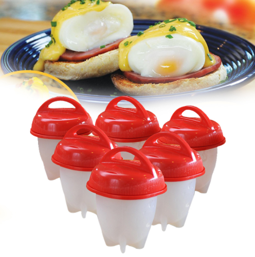 6 Pcs Silicone Egglette Cooker