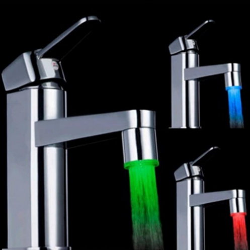 7 Color LED Light Water Glow Faucet Tap