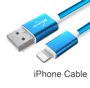 USB Data Charger Cable Nylon Braided Wire Metal