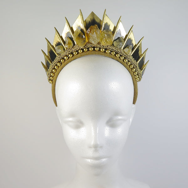 Citrine Gold Blade Crown