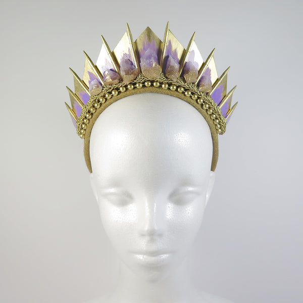 Amethyst Gold Blade Crown