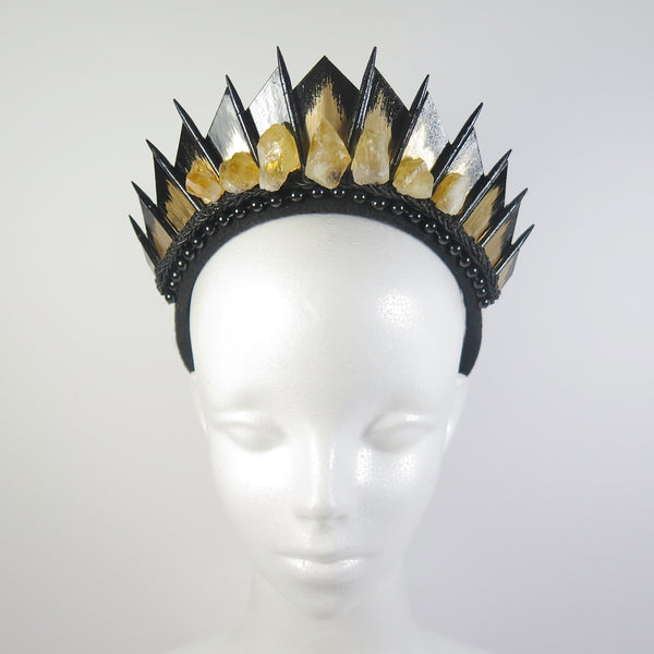 Citrine Black Blade Crown