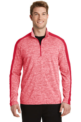 Sport-Tek Electric Heather Colorblock 1/4-Zip Pullover
