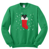 Schnauzer in a Christmas stocking Sweatshirt