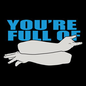 "The Deaf Club - ""You're Full of BS"" (in ASL) Shirt"
