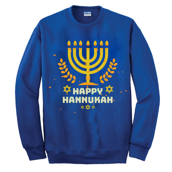 "Ugly Sweater - ""Happy Hanukkah"" Sweatshirt"
