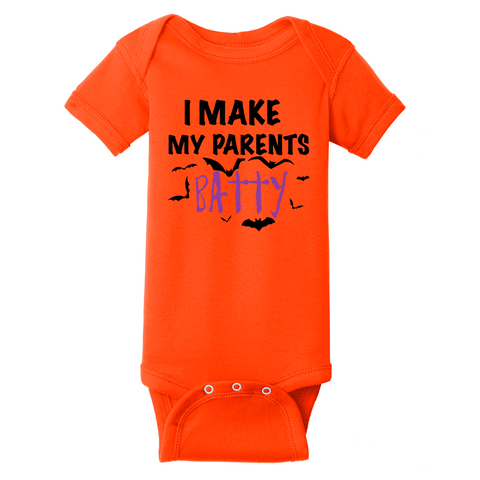 """I make my parents batty"" Onesie (Infant)"