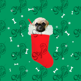 Pug in a Christmas stocking Sweatshirt