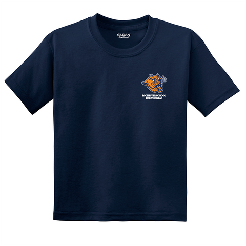 Rochester School for the Deaf - Wildcat Logo (Left Chest) Shirt (Youth)