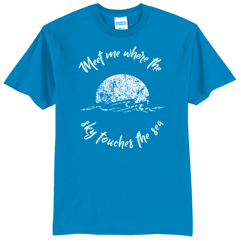 """Meet me where the sky touches the sea"" Sun Shirt"