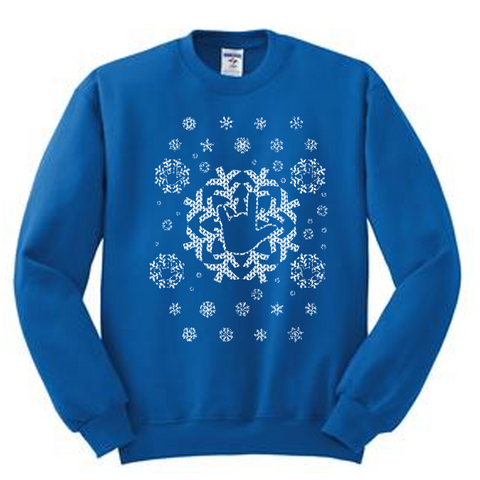 Ugly Sweater - Snowflakes Sweatshirt