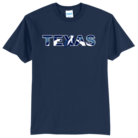 Texas School for the Deaf - Texas (multicolored) 50/50 Blend Shirt