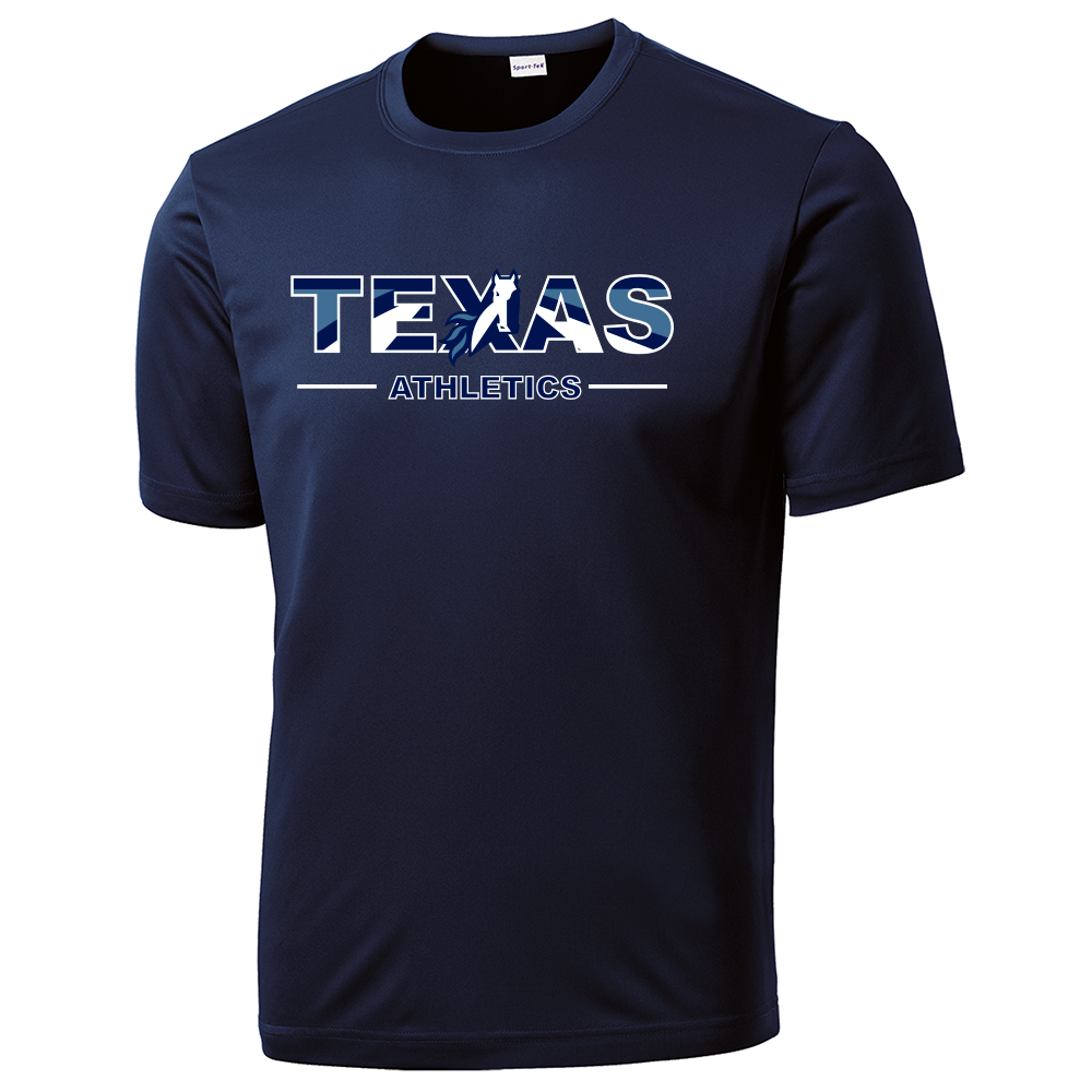 Texas School for the Deaf - Texas Athletics (multicolored) 100% Polyester Shirt